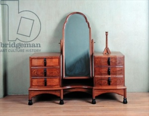 Credit: 'Cirencester' dressing table, designed in 1925 and made by F. Shilton in 1927 (walnut wood with yew and ebony banding), Russell, Sir Gordon (1892-1980) / Private Collection / Photo © The Fine Art Society, London, UK / The Bridgeman Art Library