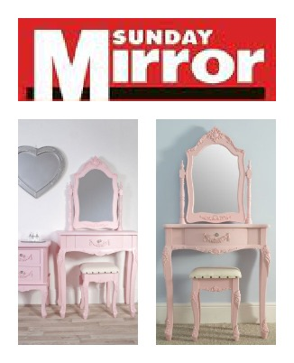 Sophie Pink Dressing Table