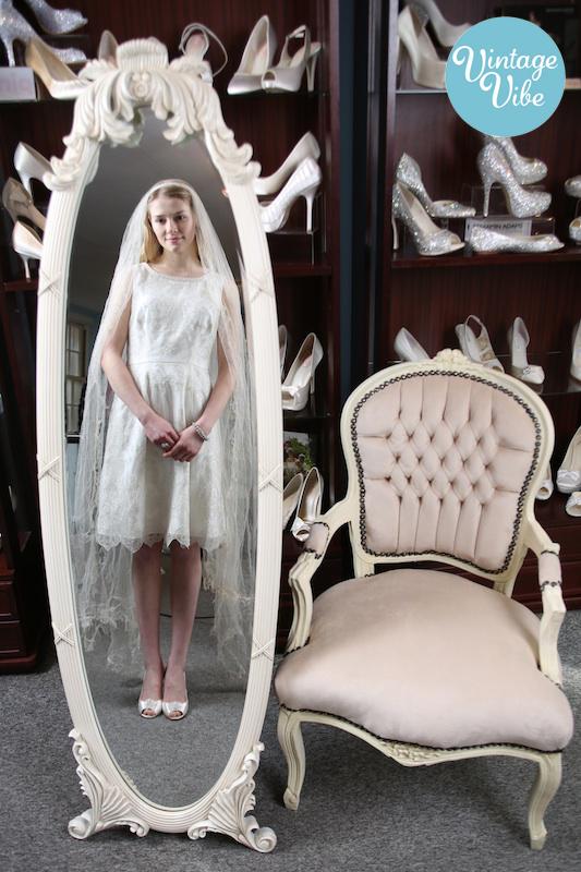 bride mirror wedding dress