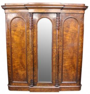 Victorian Burr Walnut Wardrobe
