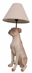boxer dog lamp