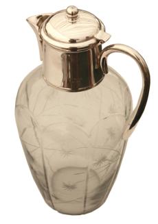etched claret jug