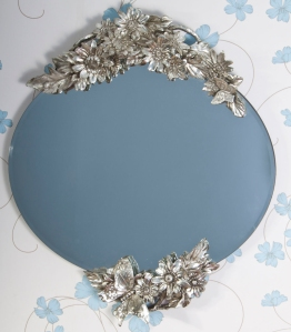 butterfly floral mirror