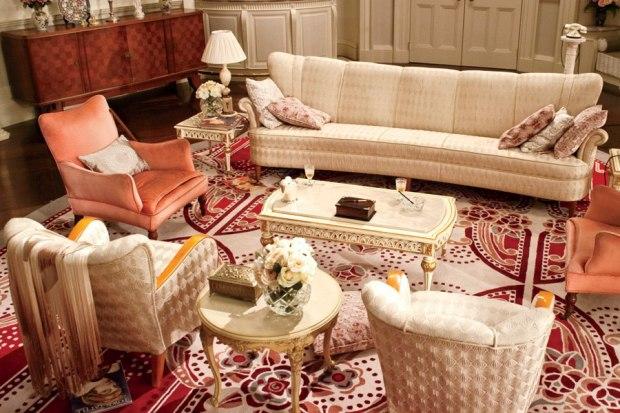 great gatsby sitting room