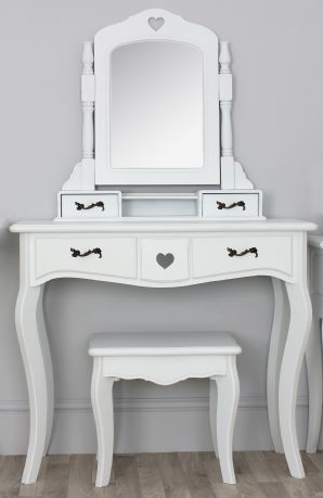 valentine white dressing table