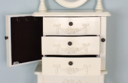 dressing table storage detail