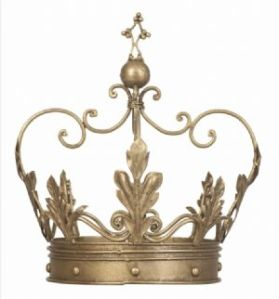 deocrative gold crown