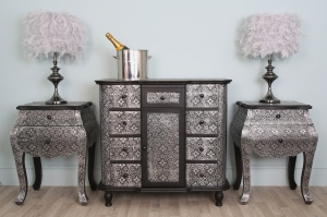 black and silver style chests